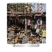 Behramkale Street Market Shower Curtain