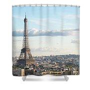 Paris Roofs And Tower Shower Curtain