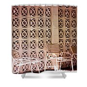 Beige Chairs Palm Springs Shower Curtain