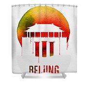 Beijing Landmark Red Shower Curtain