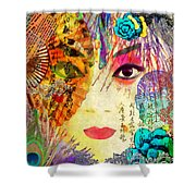 Beijing Opera Girl  Shower Curtain