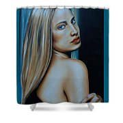Being Emma, Nude Portrait Art Shower Curtain