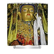 Bejeweled Buddha Shower Curtain