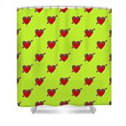 Bejewelled Heart Half Drop Shower Curtain