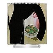 Bel Paese - Melzo, Italy - Vintage Cheese Advertising Poster Shower Curtain