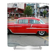 Belair Red Shower Curtain