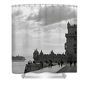 Belem And The Boat Shower Curtain