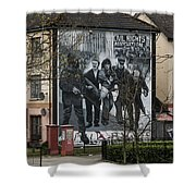 Belfast Mural - Civil Rights Association - Ireland Shower Curtain