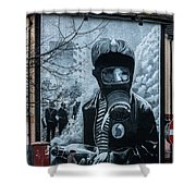 Belfast Mural - Face Mask - Ireland Shower Curtain