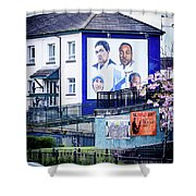 Belfast Mural - Humanitarians - Ireland Shower Curtain
