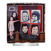 Belfast Mural - Ireland Shower Curtain