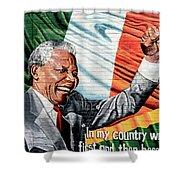 Belfast Mural - Mandella - Ireland Shower Curtain