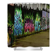 Belfast - Painted Wall - Ireland Shower Curtain