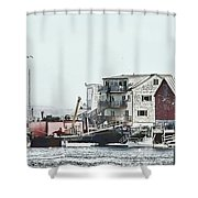 Belfast Tugs 2 Shower Curtain