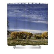 Belfry Fall Landscape 6 Shower Curtain