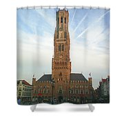 Belfry Of Bruges Shower Curtain