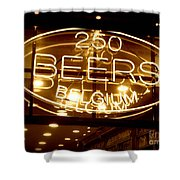 Belgian Beer Sign Shower Curtain