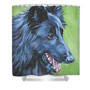 Belgian Sheepdog Shower Curtain