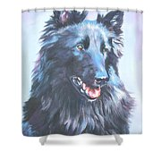 Belgian Sheepdog Portrait Shower Curtain