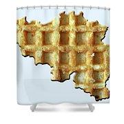 Belgium Wafelland Shower Curtain