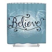 Believe Winter Art Shower Curtain