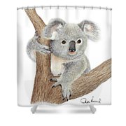 Believing Shower Curtain by Phyllis Howard