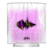 Belive Recorded Soundwave Collection Shower Curtain