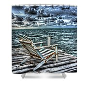 Belize Beach Chair #2 Shower Curtain