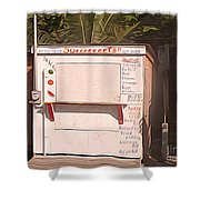 Belize - Sidewalk Breakfast Stand Shower Curtain