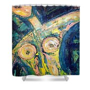 Bell Bottom Blues Shower Curtain