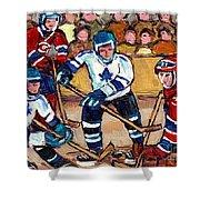 Bell Center Hockey Art Goalie Carey Price Makes A Save Original 6 Teams Habs Vs Leafs Carole Spandau Shower Curtain