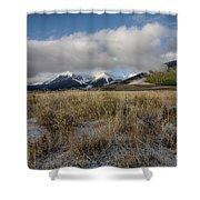 Bell Mountain Mists Shower Curtain