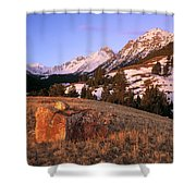 Bell Mountain Sunrise Shower Curtain