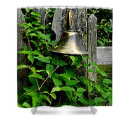 Bell On The Garden Gate  Shower Curtain