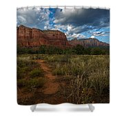 Courthouse Butte Sedona Arizona Shower Curtain