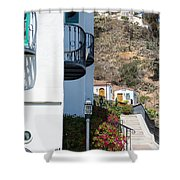 Santa Catalina Island Bell Tower Shower Curtain