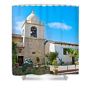 Bell Tower  In Carmel Mission-california  Shower Curtain