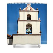 Bell Tower Mission San Buenaventura Shower Curtain