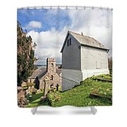 Bell Tower St Mylor Cornwall Shower Curtain