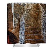 Bell Tower Stairs Shower Curtain