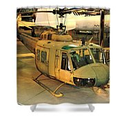 Bell Uh-1h Iroquois Huey Smokey IIi Helicopter Shower Curtain
