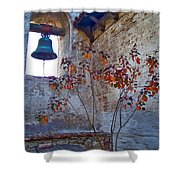 Bell Wall And Eastern Wall Of Serra Chapel In Sacred Garden Mission San Juan Capistrano California Shower Curtain