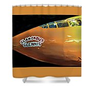 Bell X-1  Glamorous Glennis Shower Curtain