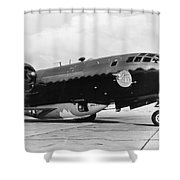 Bell X-1 Resting In Belly Of B-29, 1947 Shower Curtain