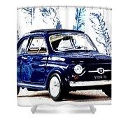 Bella Macchina 8 - Fiat 500 F Shower Curtain