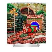 Bellagio Christmas Train Decorations Angled 2017 2 To 1 Aspect Ratio Shower Curtain