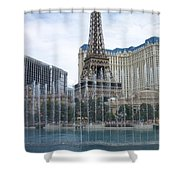 Bellagio Fountain 1 Shower Curtain