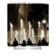 Bellagio Fountain At Night Shower Curtain