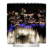 Bellagio Hotel Fountain Shower Curtain