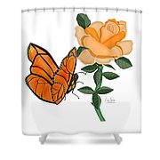 Belle And Flower Shower Curtain